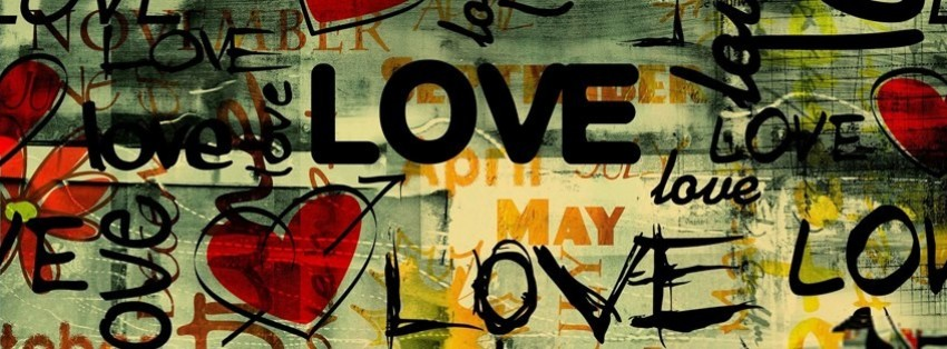 abstract love street art facebook cover timeline banner for fb